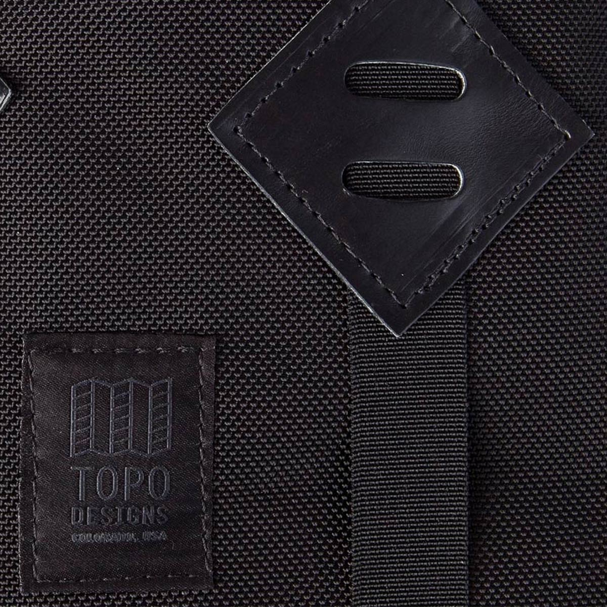 Topo Designs Klettersack Ballistic/Black Leather Lifestyle, ballistic backpack for men and women