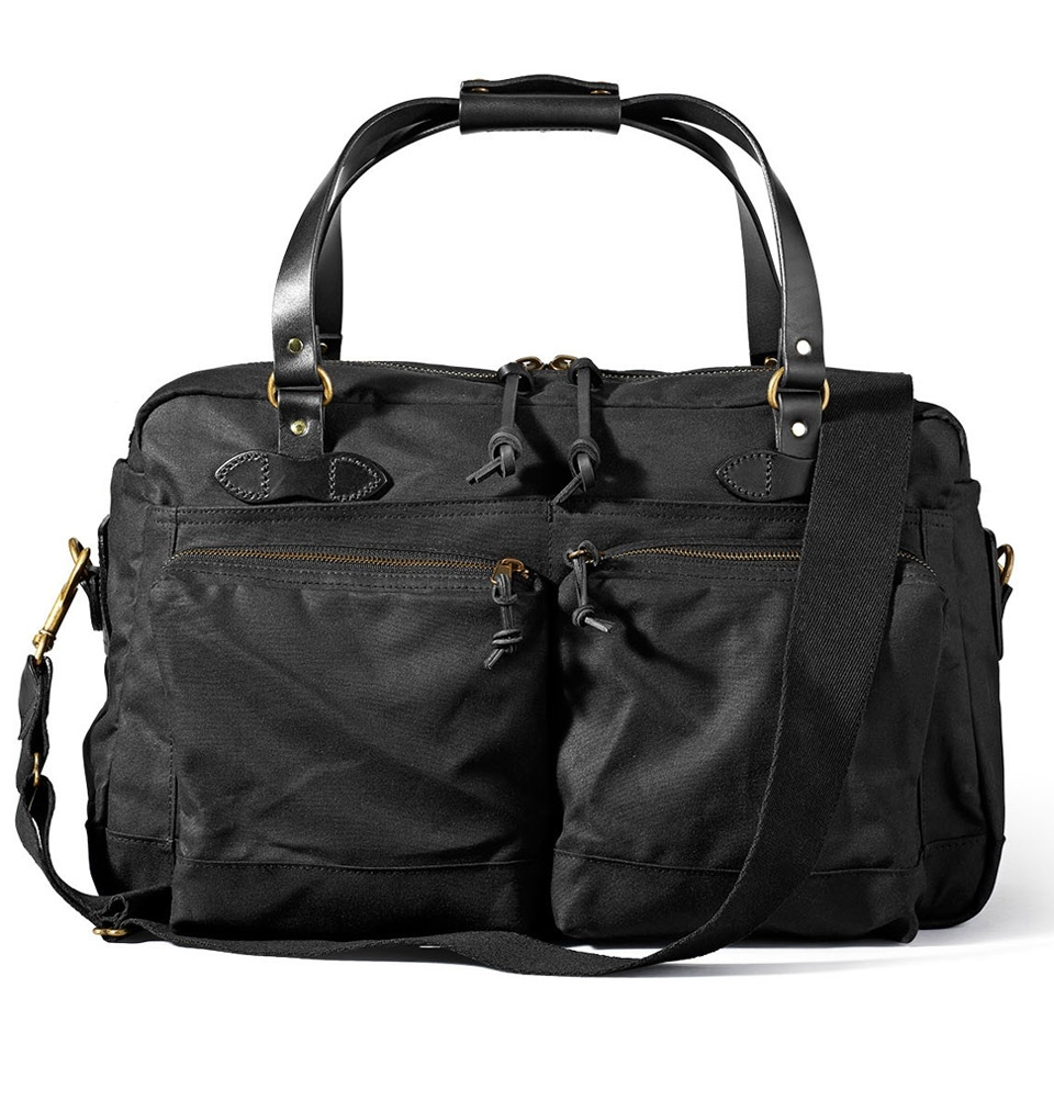 Filson 48-Hour Tin Cloth Duffle Bag 11070328-Black
