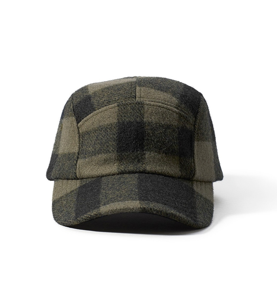 Filson 5-Panel Wool Cap 11030236-Otter Green/Black Plaid