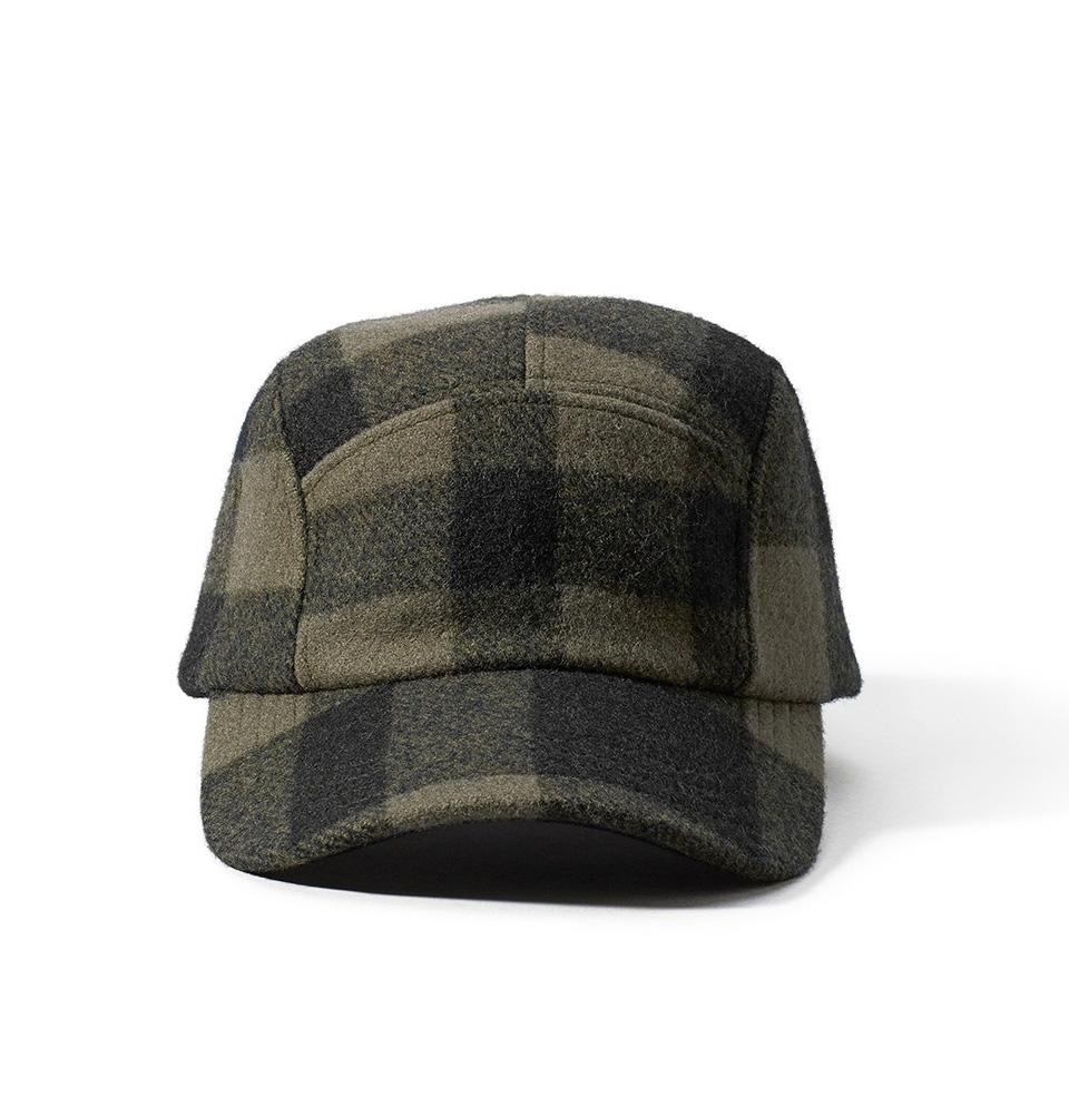 Filson 5-Panel Wool Cap 11030236-Otter Green/Black Plaid