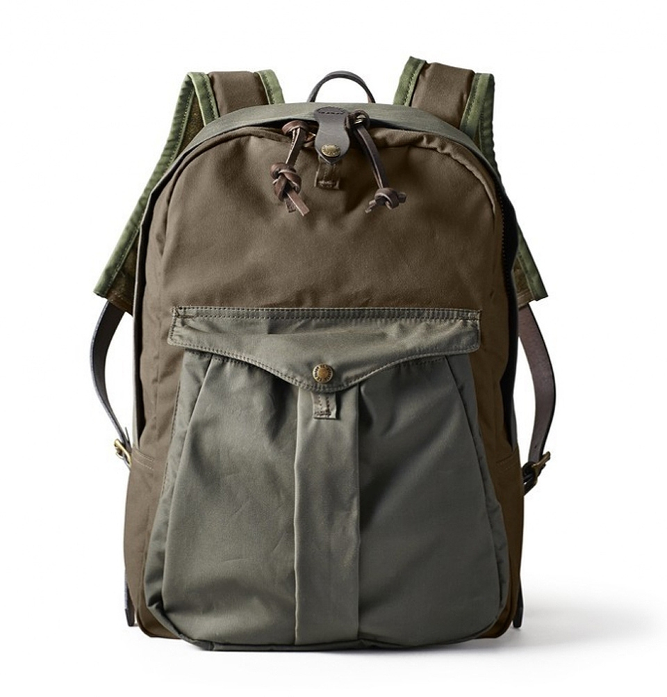 Filson Journeyman Backpack 11070236-Dark Tan-Otter Green