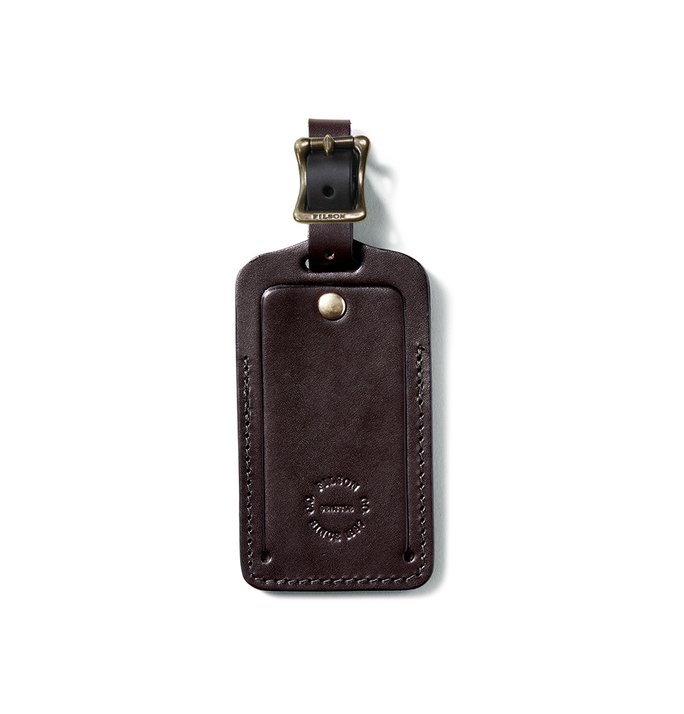 Filson Luggage Tag Leather 20018729-Brown
