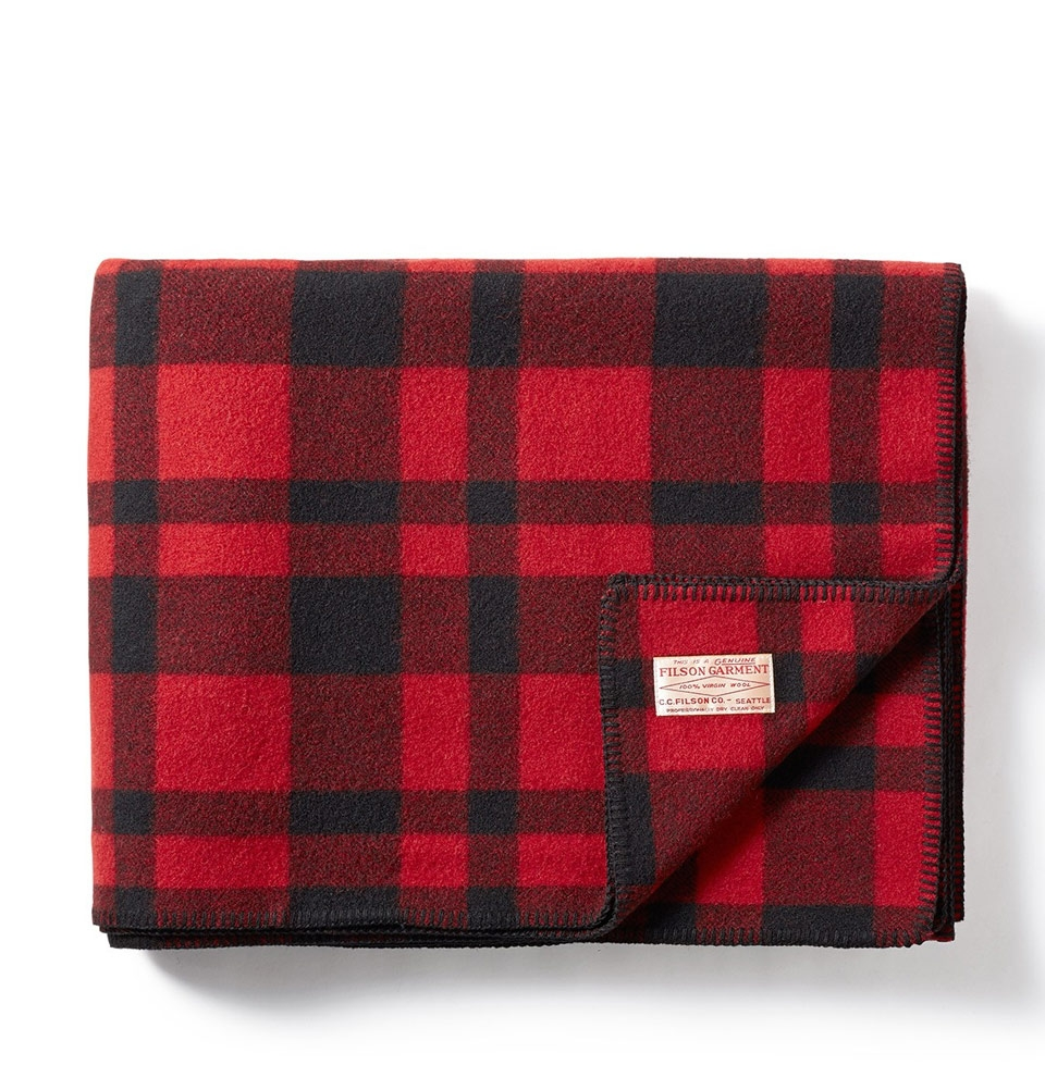 Filson Mackinaw Wool Blanket 11080110-Red Black