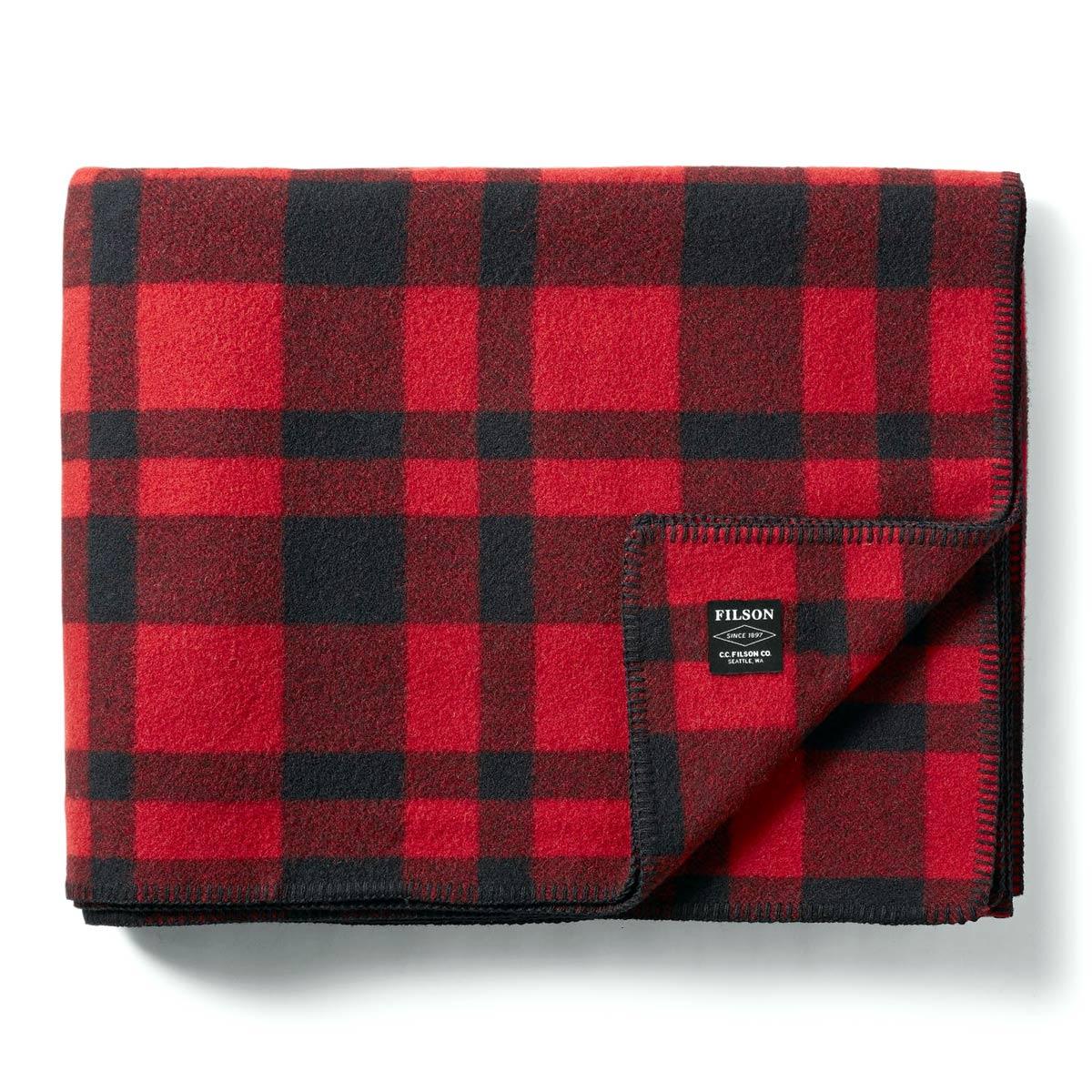 Filson Mackinaw Wool Blanket 11080110-Red Black