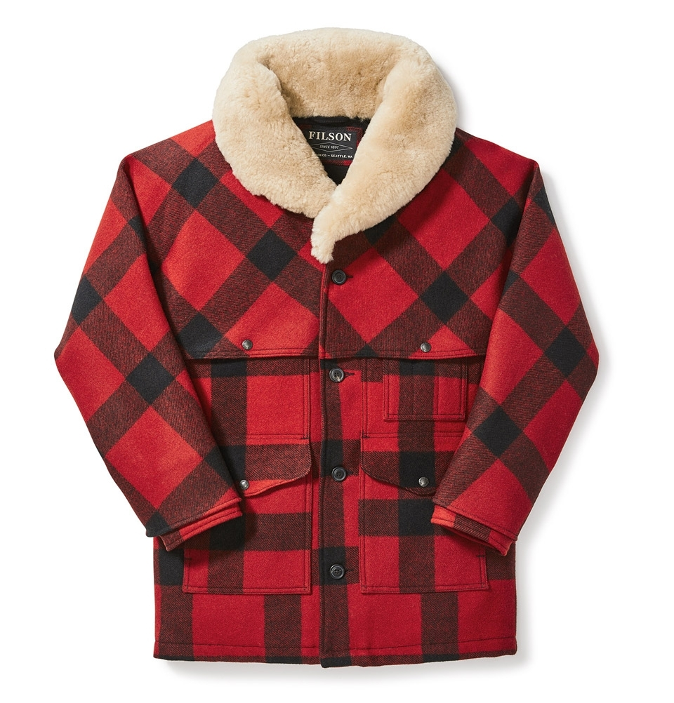 Filson Lined Wool Packer Coat Red/Black/Plaid