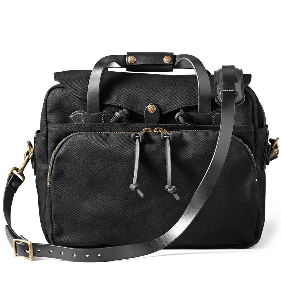 Filson Rugged Twill Padded Computer Bag 11070258-Black