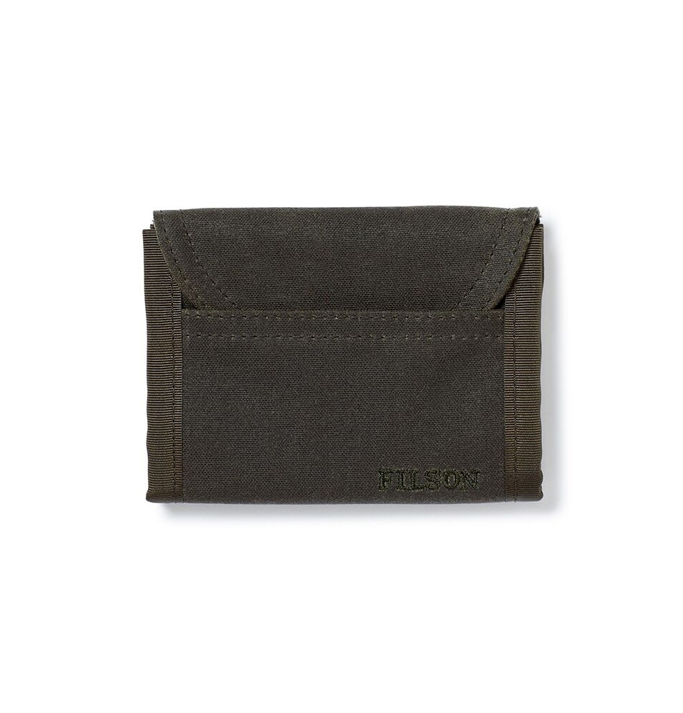 Filson Tin Cloth Smokejumper Wallet 20051128 Otter Green