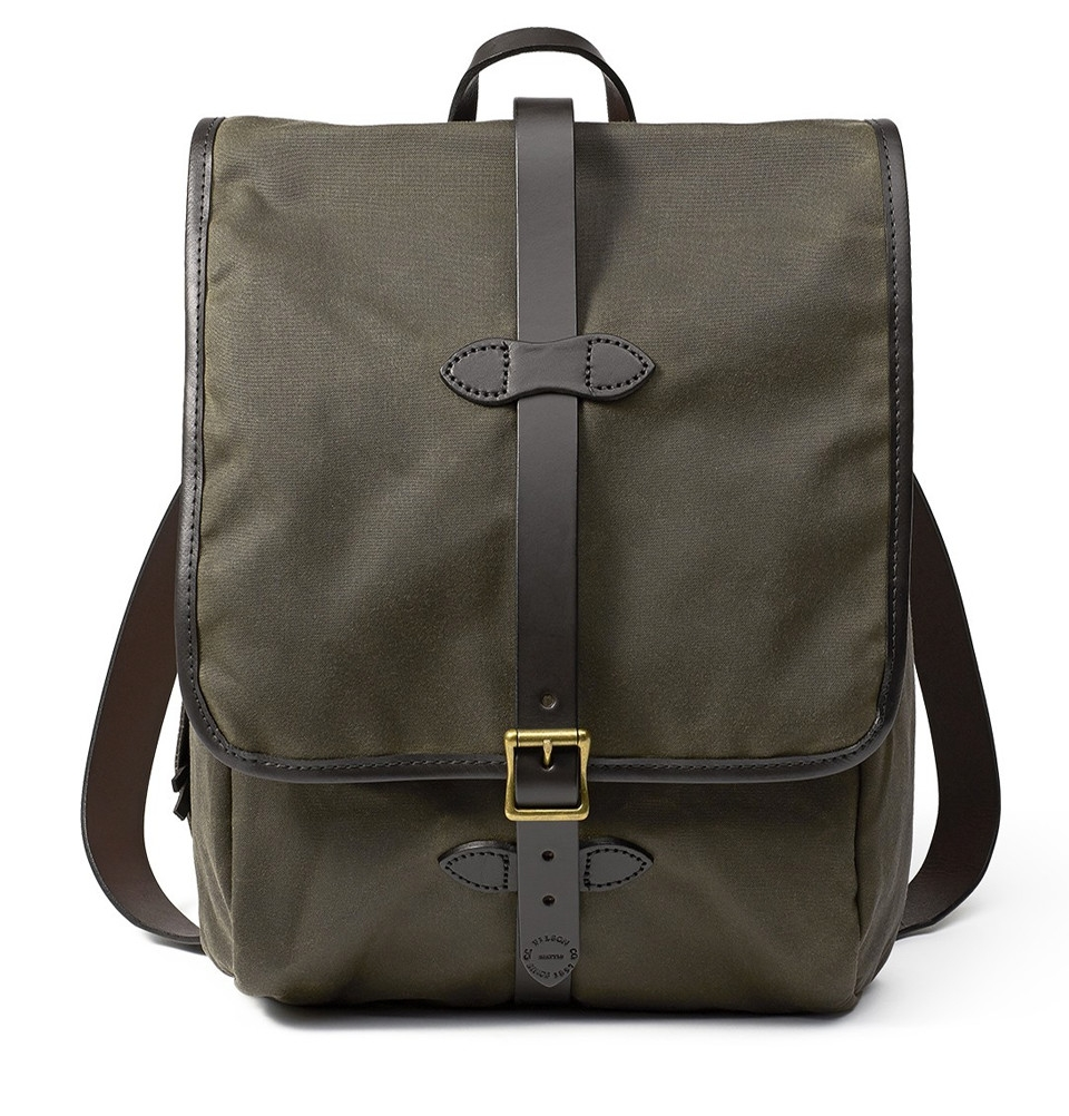 Filson Tin Cloth Backpack 11070017-Otter Green