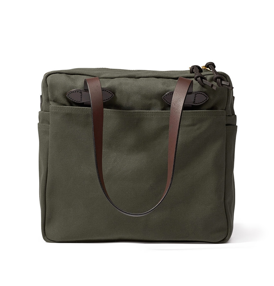 Filson Rugged Twill Tote Bag With Zipper 11070261-Otter Green