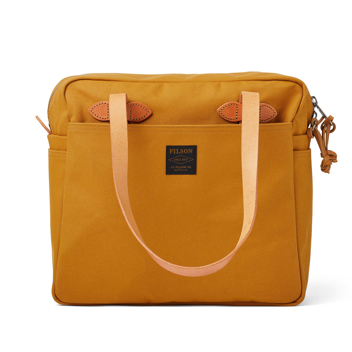 Filson Rugged Twill Tote Bag with Zipper 20192728-Chessie Tan