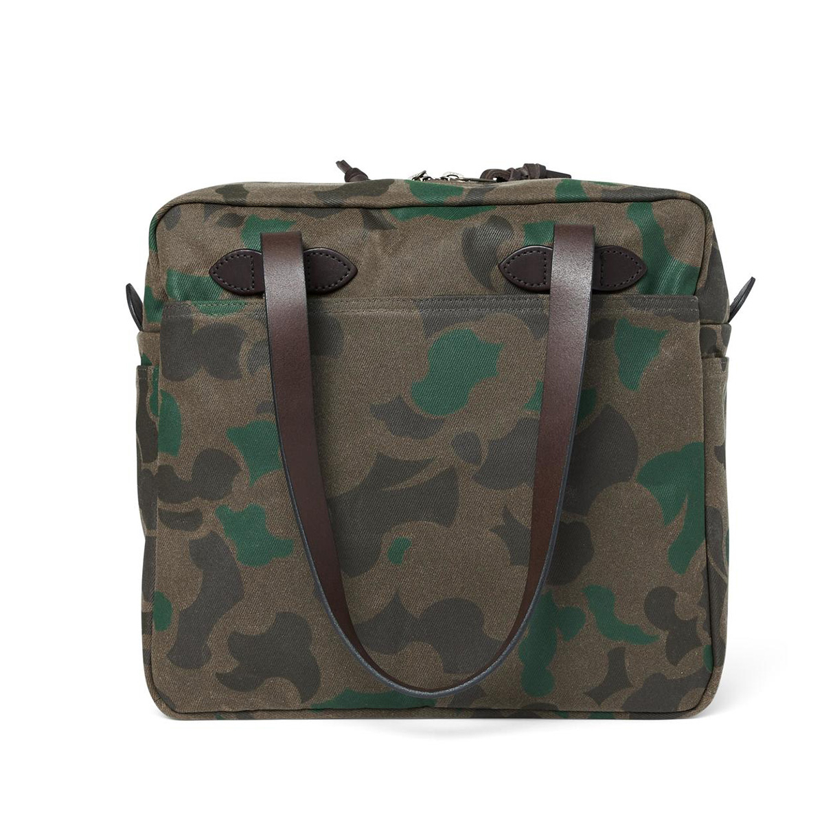 Filson Waxed Rugged Twill Tote Bag Zipper 20226931-Dark Wax Shrub Camo