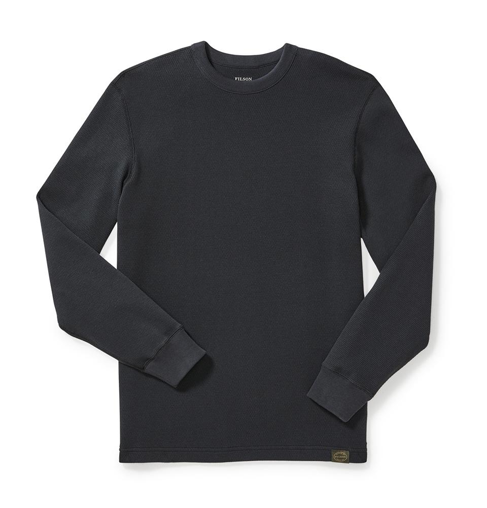 Filson Waffle Knit Thermal Crewneck Shirt Navy