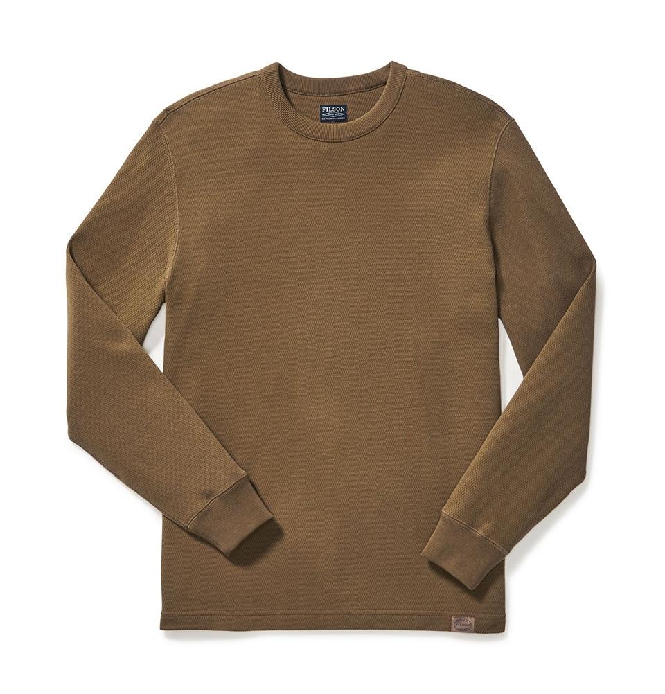 Filson Waffle Knit Thermal Crewneck Shirt Olive