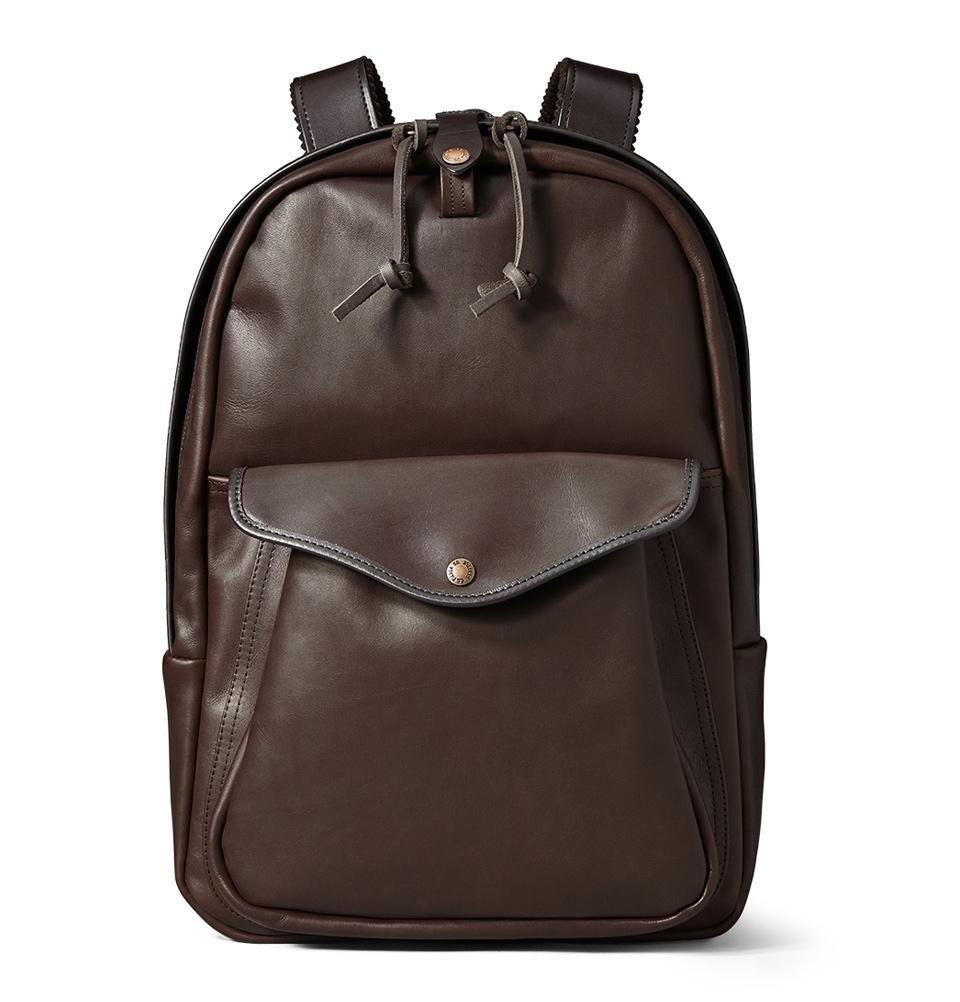 Filson Weatherproof Leather Journeyman Backpack 11070398-Sierra Brown
