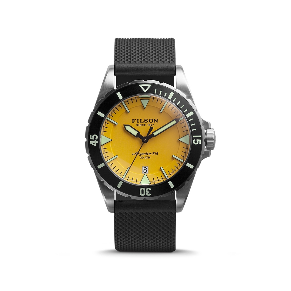 Filson The Dutch Harbor 2001746 Yellow Dial - Rubber Strap