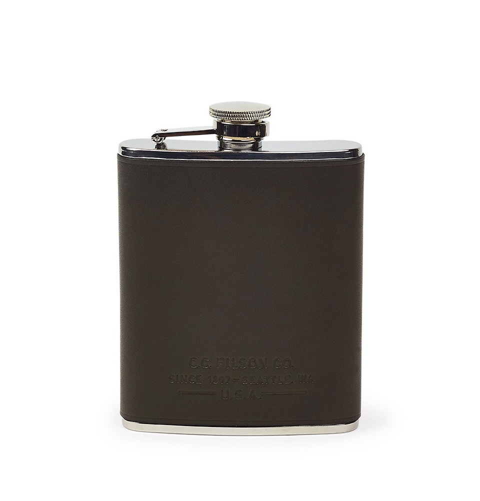 Filson Flask 11069201-Moss (Leather Wrapped Flask)