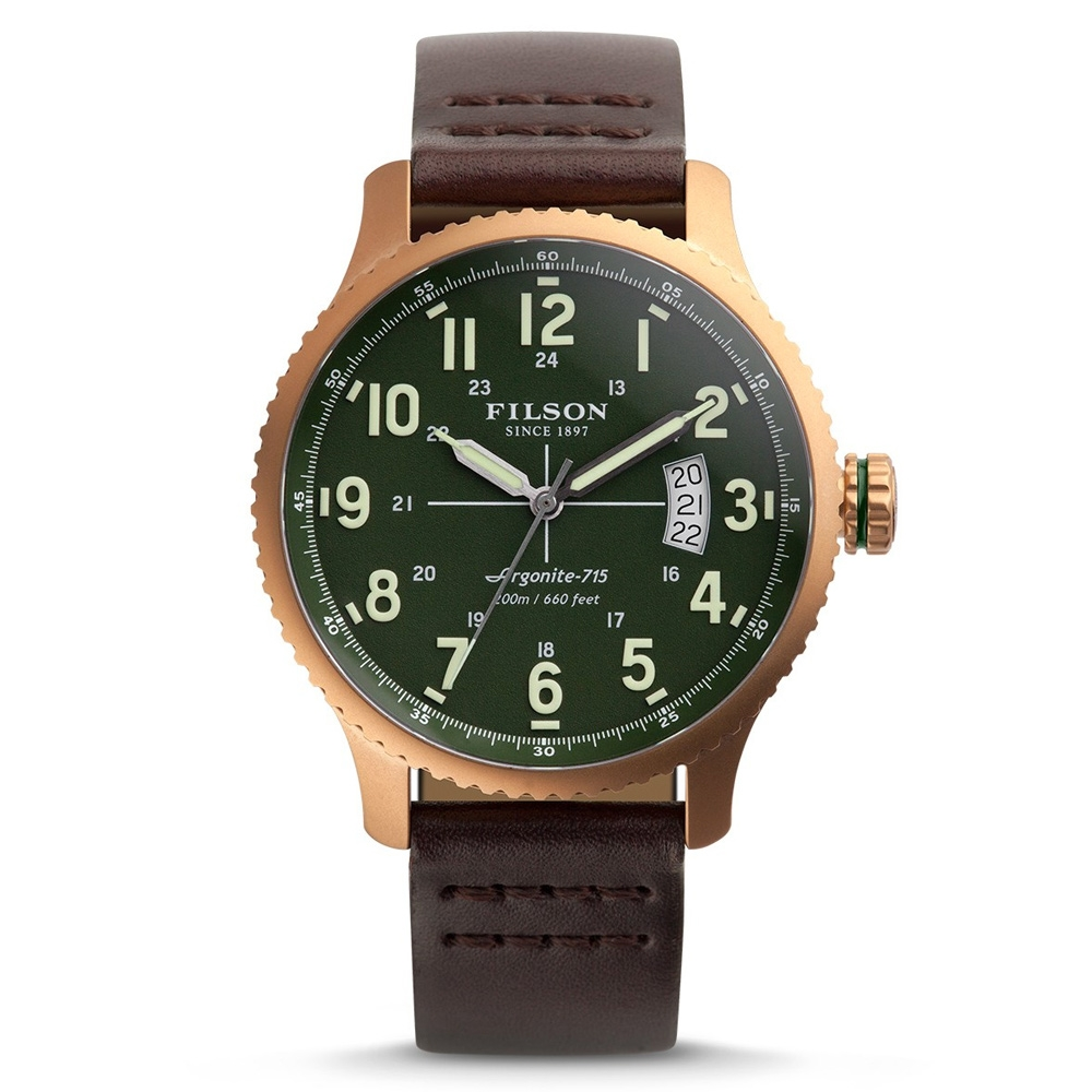 Filson Mackinaw Field Watch 10000308 Green Dail - Bridle Leather Strap