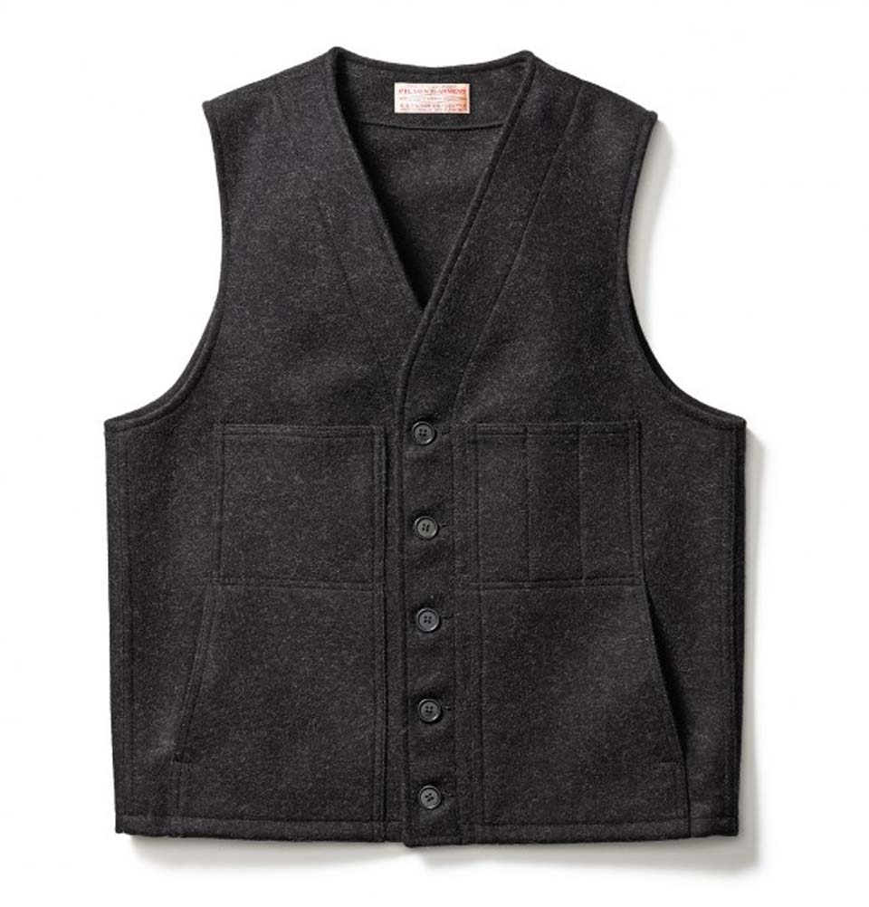 Filson Mackinaw Wool Vest Charcoal