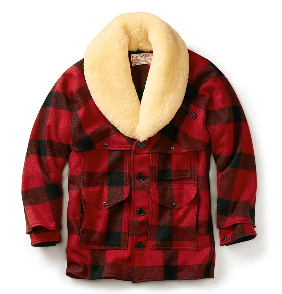 Filson Wool Packer Coat Red/Black