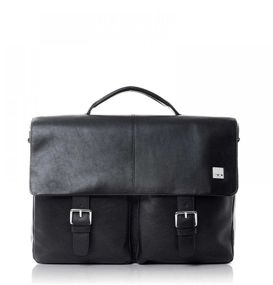 "Knomo Jackson 15"" Laptop Briefcase Black"