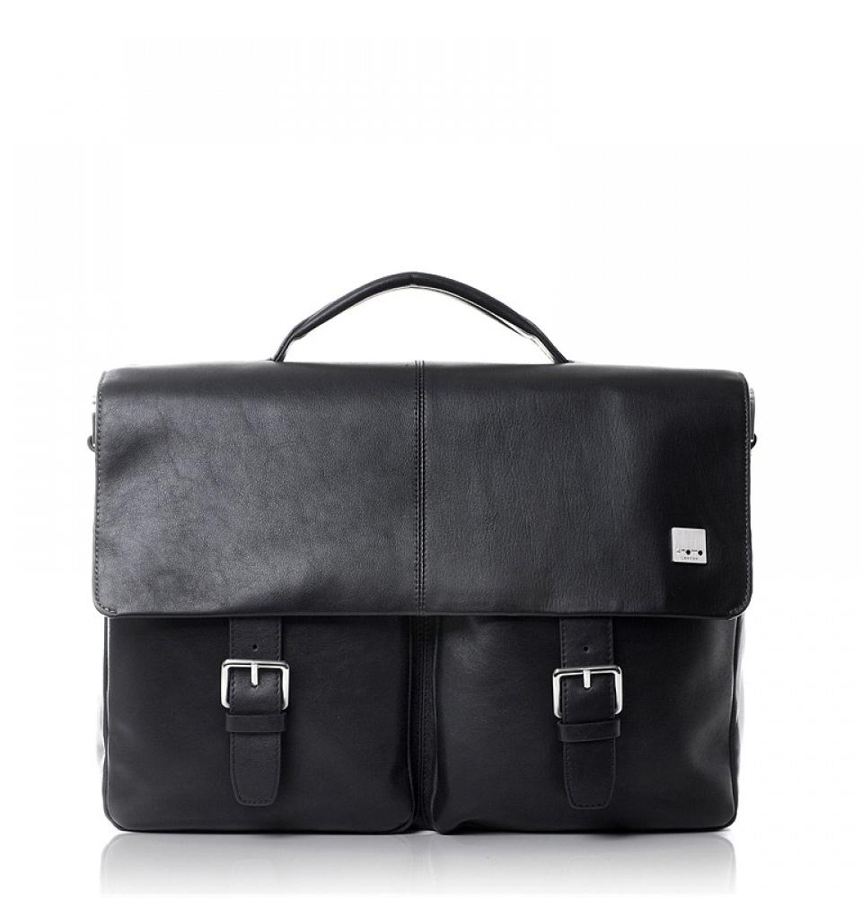 """Knomo Jackson 15"""" Laptop Briefcase Black"""