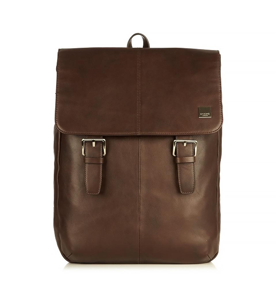 "Knomo Hudson 15"" Leather Backpack Brown"