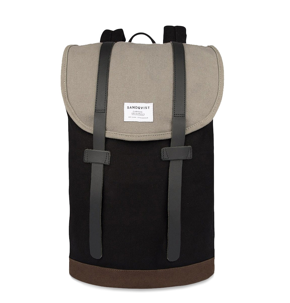 Sandqvist Stig backpack Multi Black/Grey