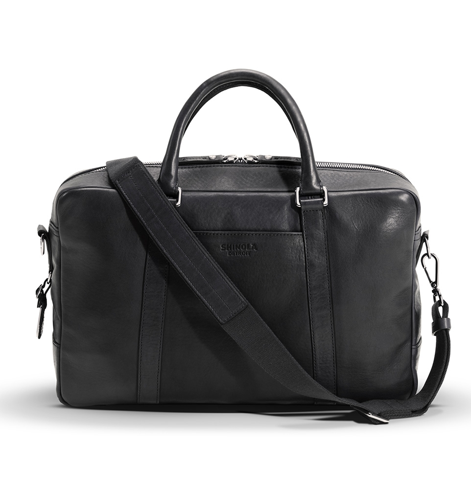 Shinola Slim Briefcase Black