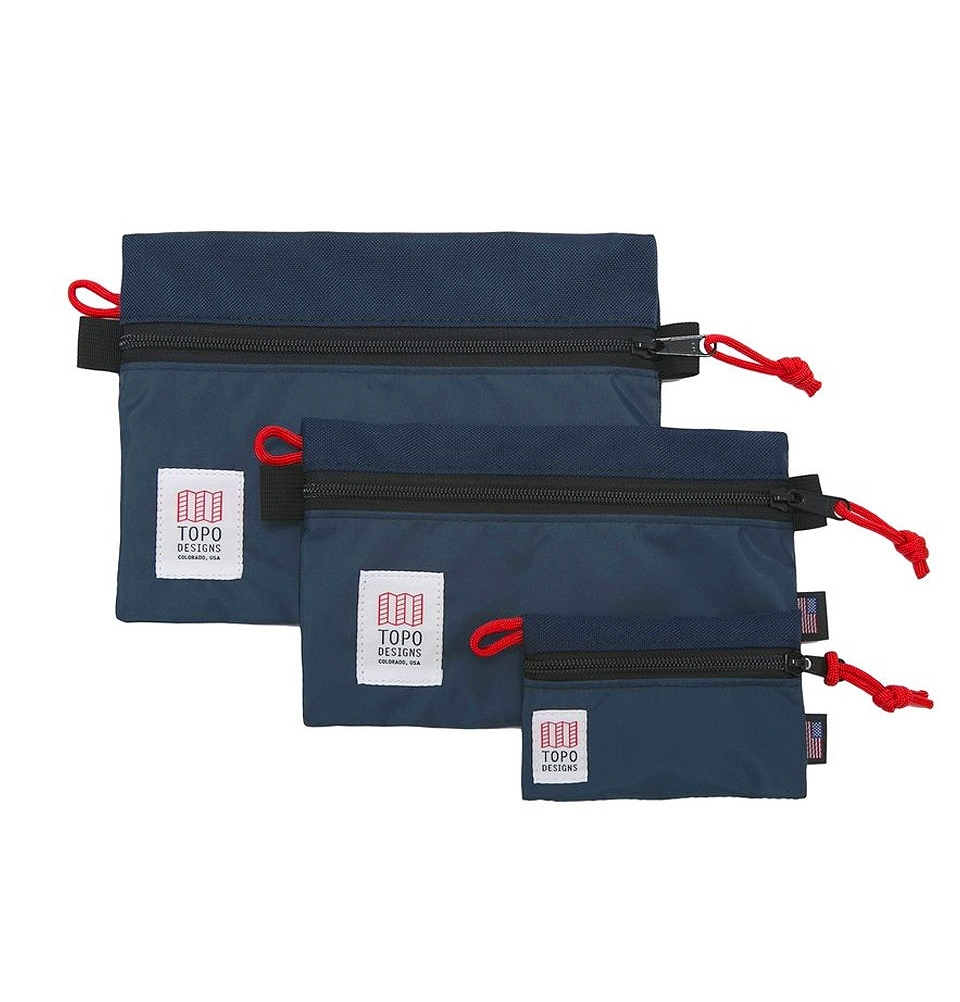 Topo Designs Accessory Bag 3 Pack Navy
