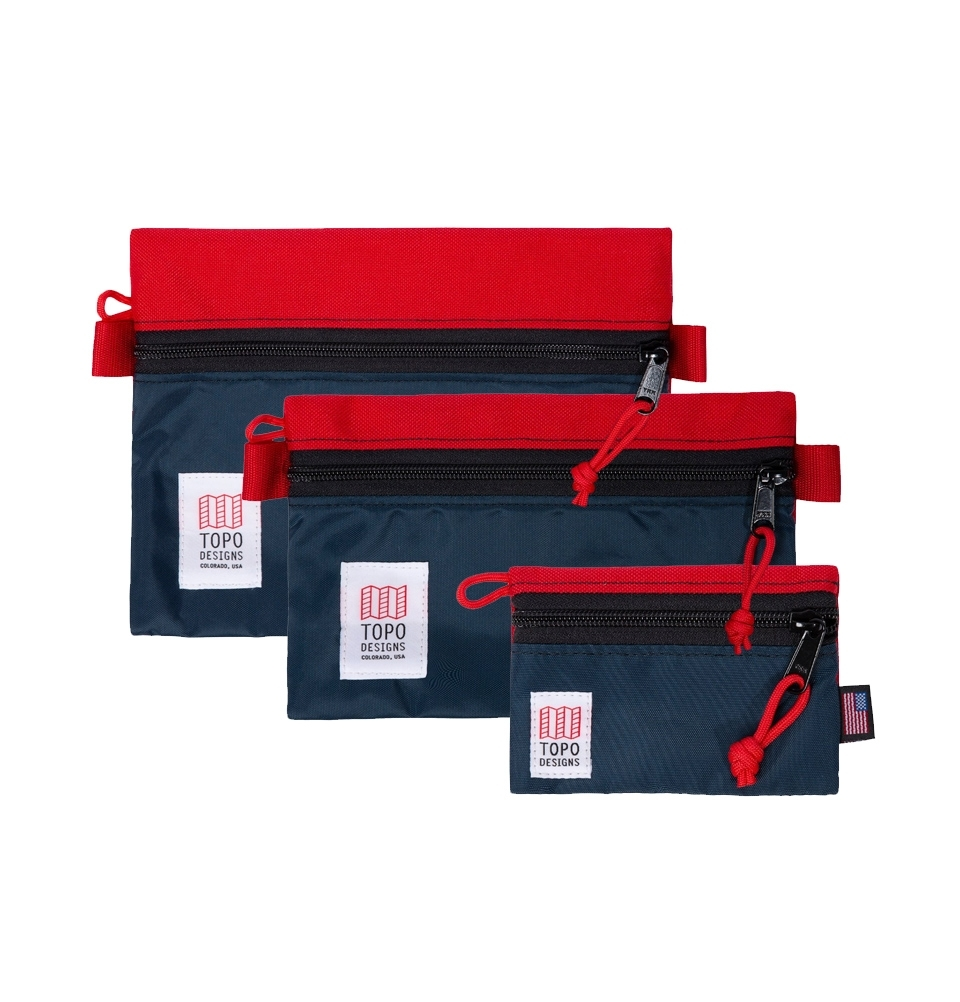 Topo Designs Accessory Bags 3 Pack Red/Navy