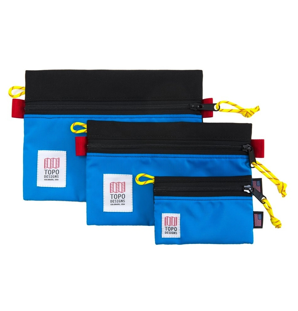 Topo Designs Accessory Bags 3 Pack Black/Royal