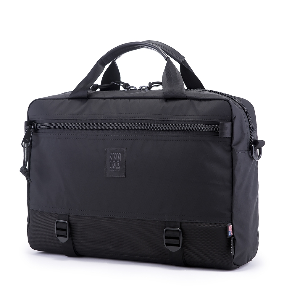 Topo Designs Commuter Briefcase X-Pac Black/Ballistic Black