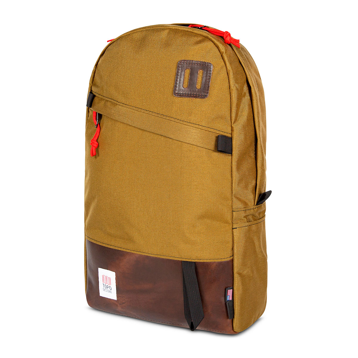 Topo Designs Daypack Duck Brown/Dark Brown Leather