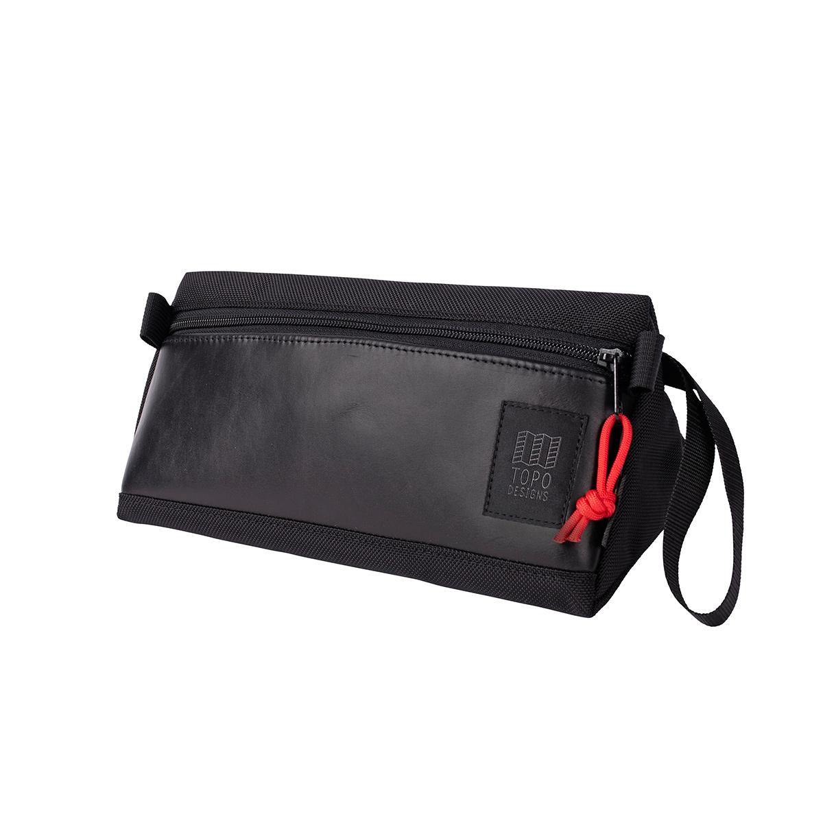 Topo Designs Dopp Kit Ballistic Black/Black Leather