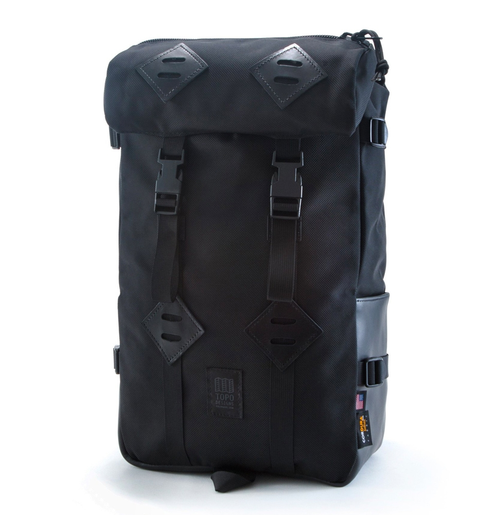 Topo Designs Klettersack Ballistic/Black Leather