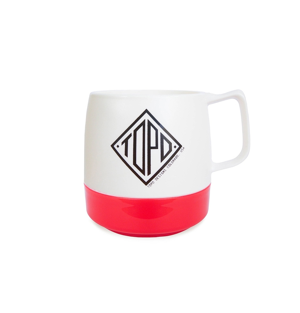 Topo Designs Mug White/Red