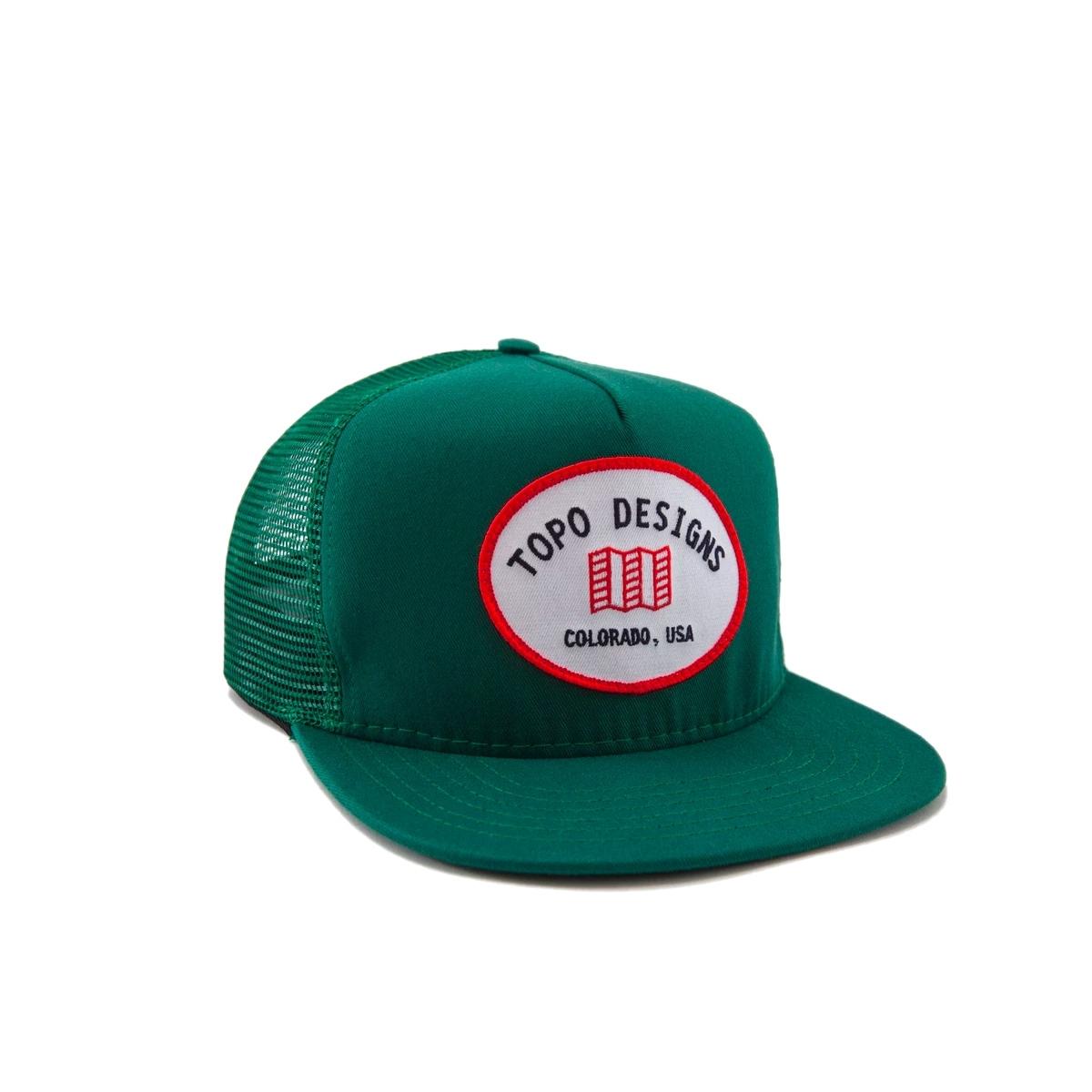 Topo Designs Snapback Hat Green