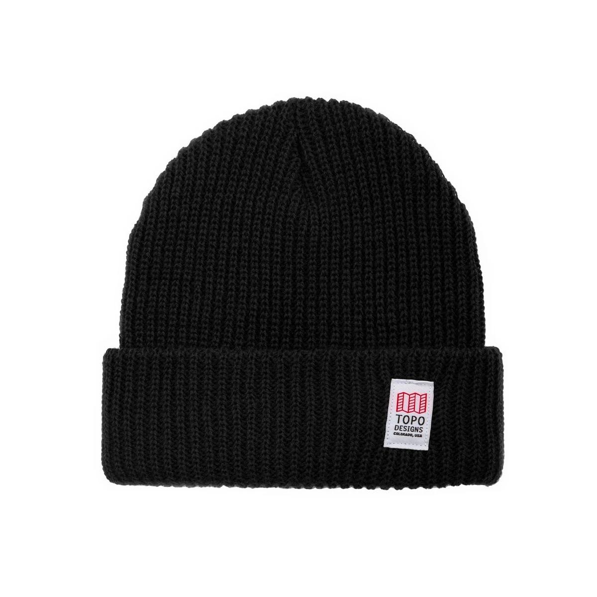 Topo Designs Watch Cap Black