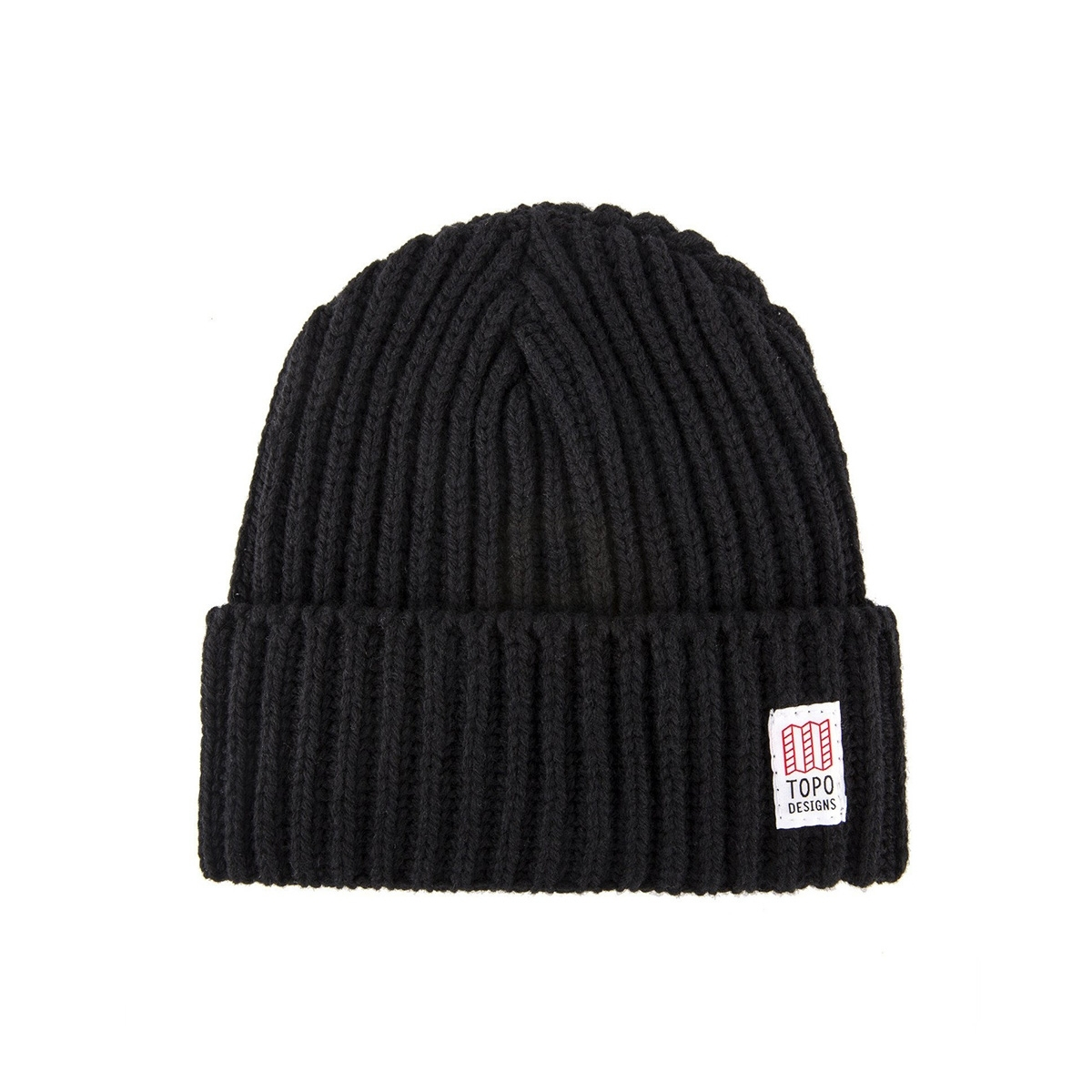 Topo Designs Wool Beanie Black