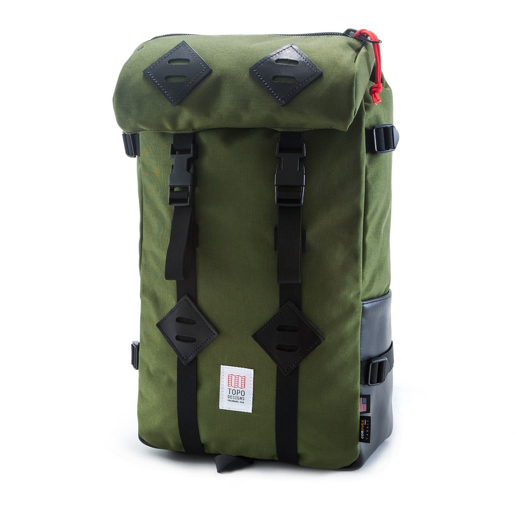 Topo Designs Klettersack Olive/Black Leather