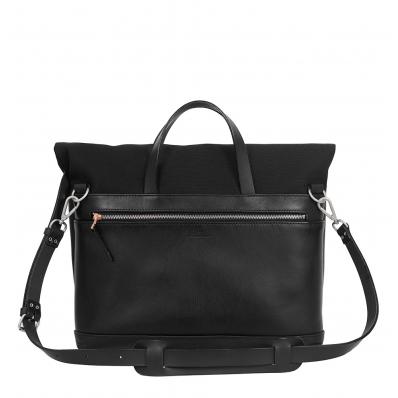Atelier de l'Armée Worker Briefcase Leather Black