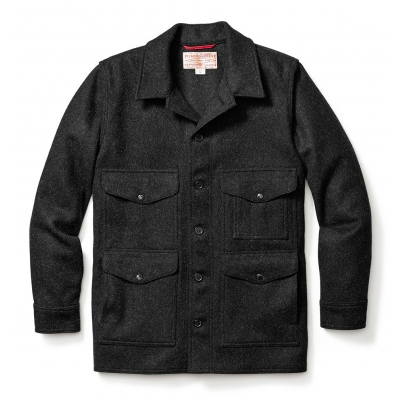 Filson Mackinaw Wool Cruiser Charcoal