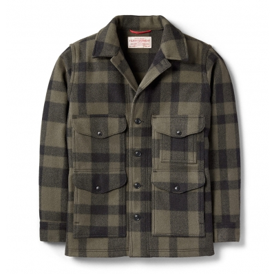 Filson Mackinaw Wool Cruiser Otter Green/Black Plaid