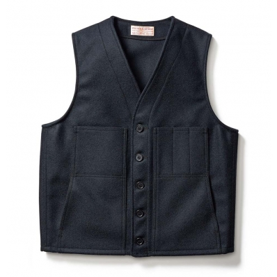 Filson Mackinaw Wool Vest Navy