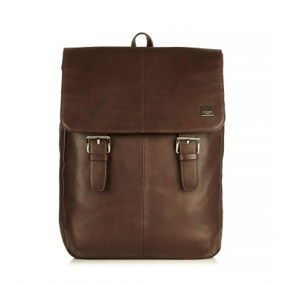 "Knomo Hudson 15"" Leather Backpack Brown"