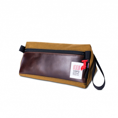 Topo Designs Dopp Kit Heritage Duck Brown/Dark Brown Leather