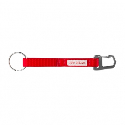 Topo Designs Key Clip Red