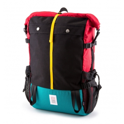 Topo Designs Mountain Rolltop Bag - Red