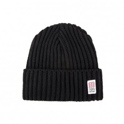 Topo Designs Wool Beanie Black