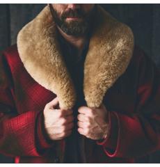 Filson Lined Wool Packer Coat Red/Green/Dark Brown